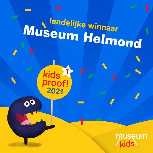 Landelijke winnaar Museum Kids Proof 2021.
