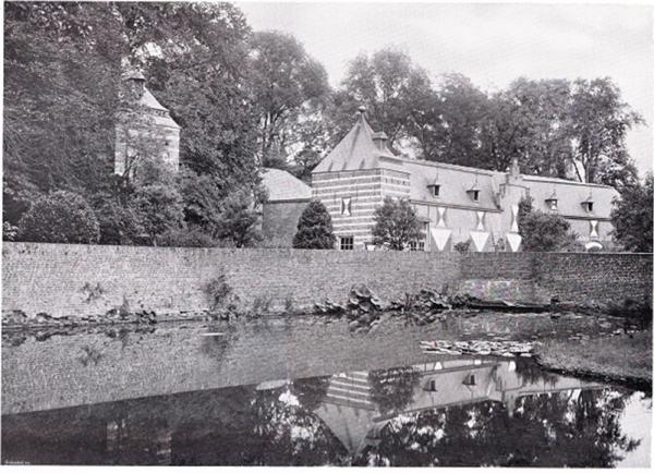De bijgebouwen van kasteel Helmond die er ooit stonden